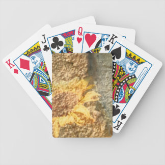 Rough Textured Sunflower Overlay Bicycle Playing Cards
