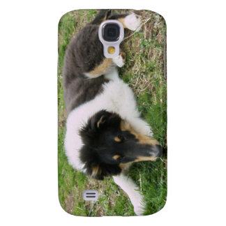 Rough Tri Collie Puppy Galaxy S4 Cover