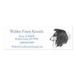 Rough Tricolor Collie Double-Sided Mini Business Cards (Pack Of 20)