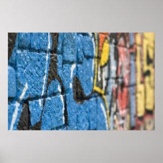 rough wall graffiti poster