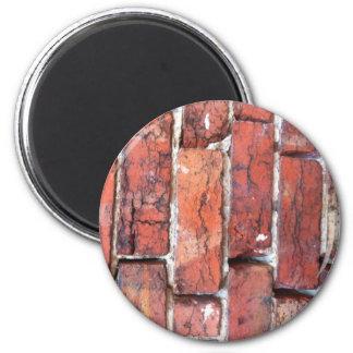 Rough wall of Bricks Magnet