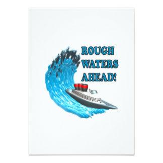 Rough Waters Ahead Card