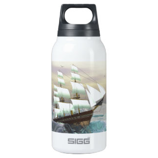 Rough Waves Thermos Water Bottle