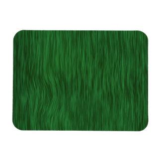 Rough Wood Grain Background - Green Rectangular Magnet