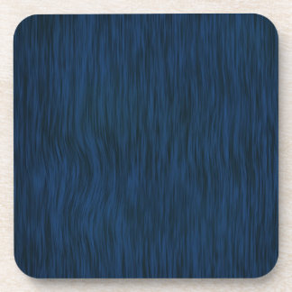 Rough Wood Grain Background in Deep Blue Beverage Coaster