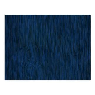 Rough Wood Grain Background in Deep Blue Postcard