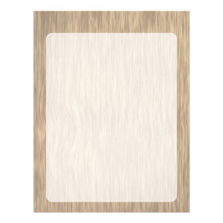 Rough Wood Grain Background in Faded Color Letterhead