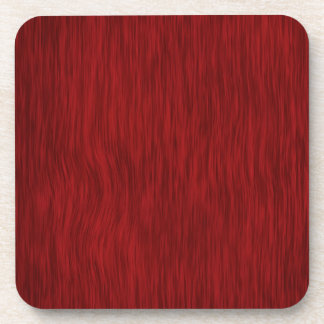 Rough Wood Grain Background - Red Beverage Coaster