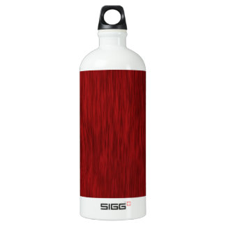 Rough Wood Grain Background - Red Water Bottle