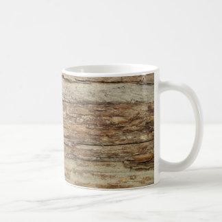 Rough Wood Grain Coffee Mug