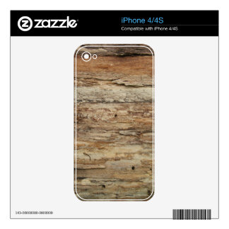 Rough Wood Grain Decals For The iPhone 4S