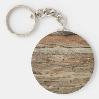 Rough Wood Grain Keychain