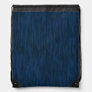 Rough Wood Grain Look Background Deep Blue Drawstring Bag