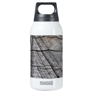 Rough wood thermos water bottle