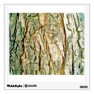 Rough Wooden Bark Of The Tree Wall Sticker