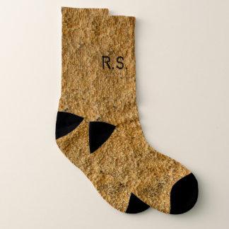 Rough Yellow Beton with Monogram Socks