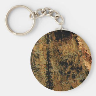 rough yellow surface keychain