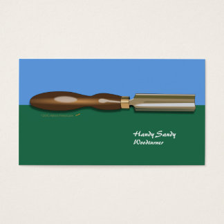 Roughing Gouge Woodturning BlueGreen Business Card