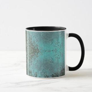 Roughly-Painted, Striped Design Mug