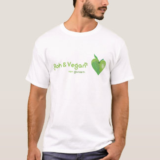 Roughly & vegan of whole heart (green apple heart) T-Shirt