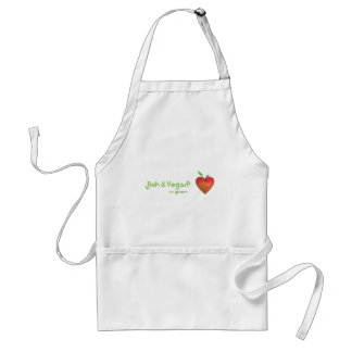 Roughly & vegan of whole heart (red apple heart) adult apron