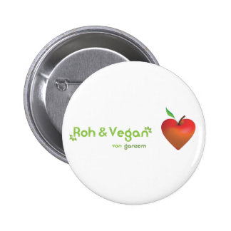 Roughly & vegan of whole heart (red apple heart) pinback buttons