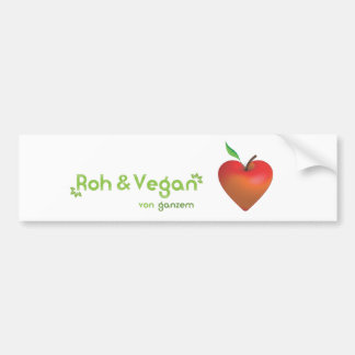 Roughly & vegan of whole heart (red apple heart) car bumper sticker
