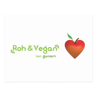 Roughly & vegan of whole heart (red apple heart) postcard
