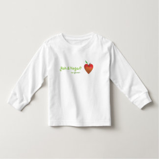 Roughly & vegan of whole heart (red apple heart) toddler t-shirt