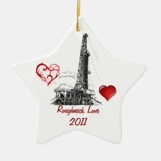 Roughneck Love Ceramic Ornament