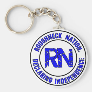 ROUGHNECK NATION LOGO KEYCHAIN