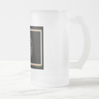 Roughneck Nation Logo Rig Up Camo Frosted Glass Beer Mug