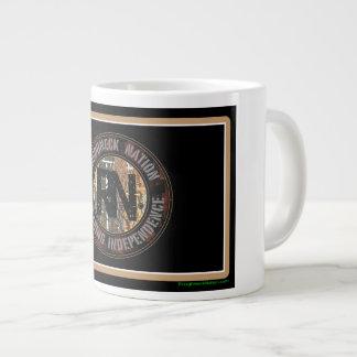 Roughneck Nation Logo Rig Up Camo Giant Coffee Mug