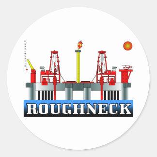 Roughneck, Oil Field Sticker,Offshore Oil Rig,Gas Classic Round Sticker