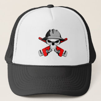 Roughneck Skull and Crossed Wrenches Trucker Hat