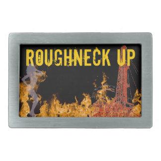Roughneck Up Flames Belt Buckle