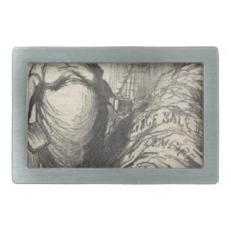 Rouher. Puedo nunca lavar todo este Honore Daumier Hebilla Cinturon Rectangular