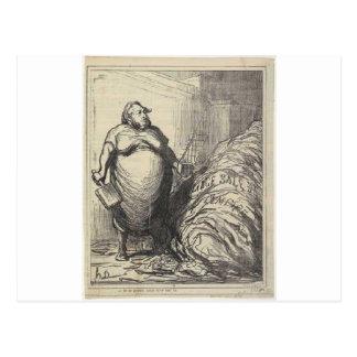 Rouher. Puedo nunca lavar todo este Honore Daumier Tarjetas Postales