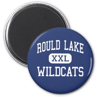 Rould Lake Wildcats Middle Round Lake 2 Inch Round Magnet