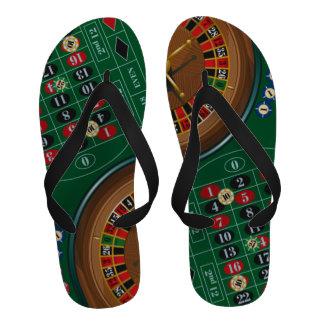 Roulette Cassino Lucky Flip-Flops Sandals