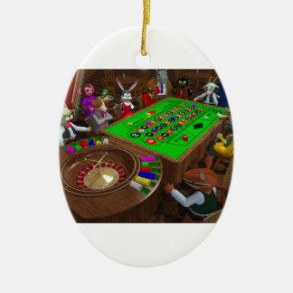 Roulette Ceramic Ornament