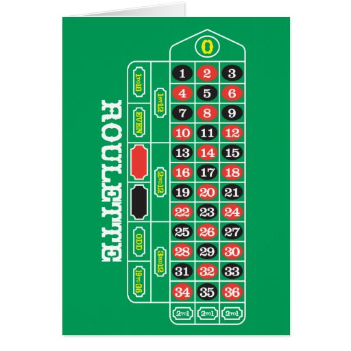 Roulette Greeting Card