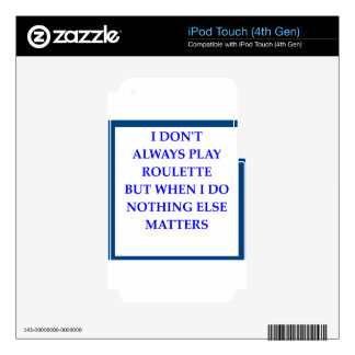 ROULETTE iPod TOUCH 4G SKIN