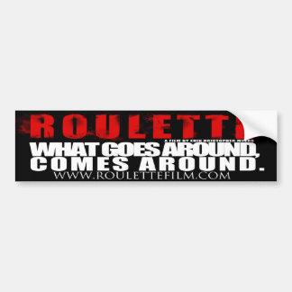 Roulette Logo and tag line Bumper Sticker Car Bumper Sticker