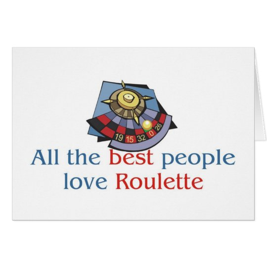 Roulette Lover's greetings Card