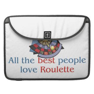 Roulette Lover's macbook sleeves