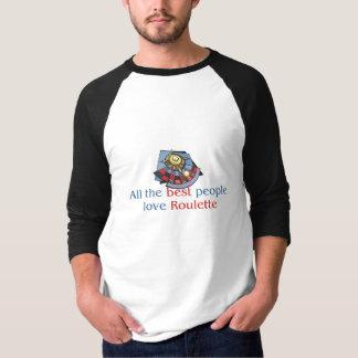 Roulette Lover's raglan T-shirt