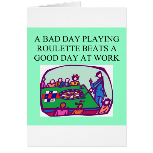 ROULETTE player casino gambler Greeting Card