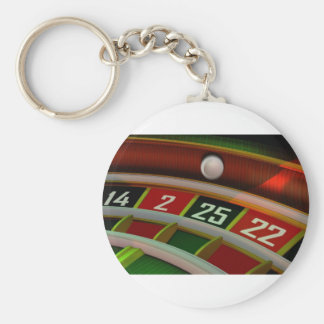 Roulette Rulet Casino Game Keychain