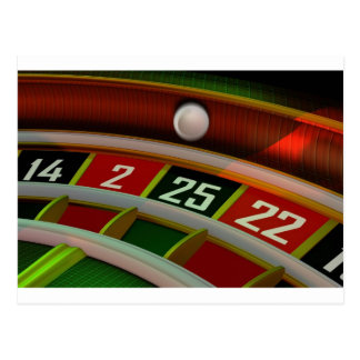 Roulette Rulet Casino Game Post Cards
